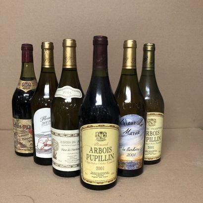 6 bottles: 1 JURA 1981 Désir petit, 2 ARBOIS...