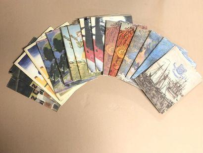 25 catalogues, livrets, plaquettes : 15 LISTE...