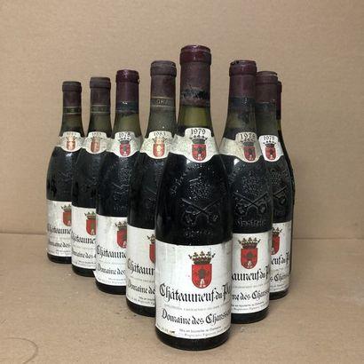 8 bottles: 2 CHATEAUNEUF DU PAPE 1978 Domaine...