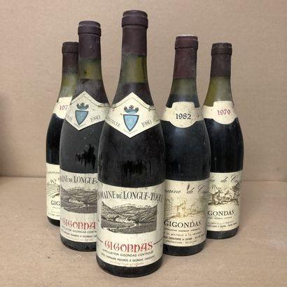5 bottles: 2 GIGONDAS 1979 Domaine de Cassen,...