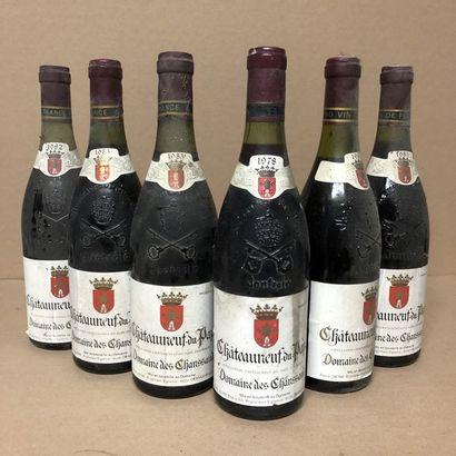 6 bottles: 1 CHATEAUNEUF DU PAPE 1978 Domaine des Chanssaud, 1 CHATEAUNEUF DU PAPE...