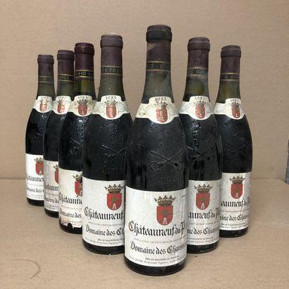 7 bottles CHATEAUNEUF DU PAPE 1985 (levels:...