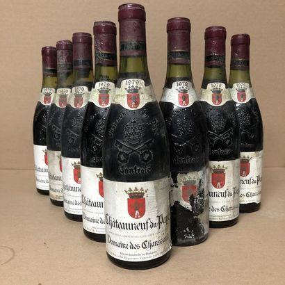 8 bottles CHATEAUNEUF DU PAPE 1979 (labels...