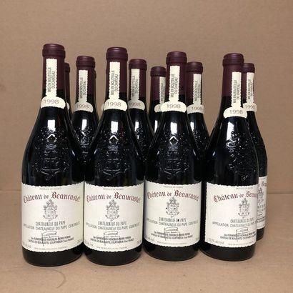 12 bouteilles CHATEAUNEUF DU PAPE 1998 Caisse...
