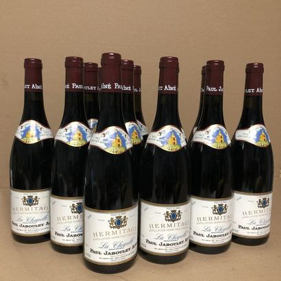 12 bouteilles HERMITAGE 2000