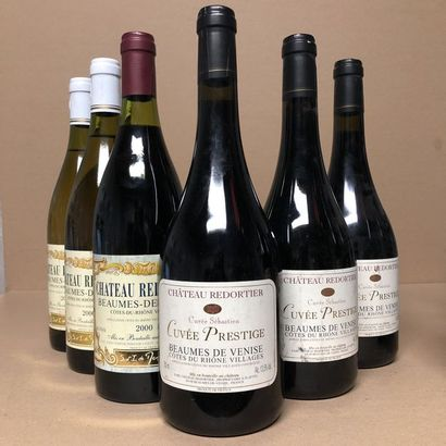 6 bouteilles : 1 BEAUMES DE VENISE 2000 Château...