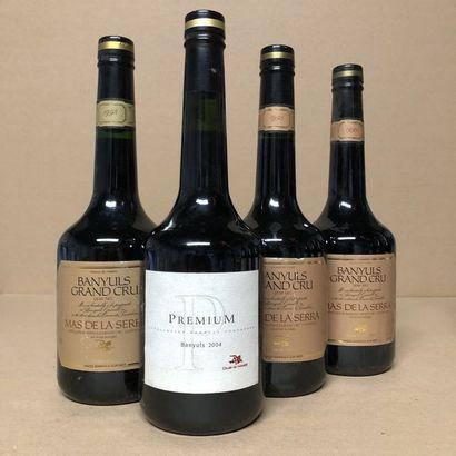 4 bouteilles : 1 BANUYLS 1993 Grand Cru Mas...