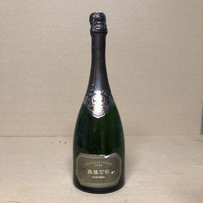 1 bottle CHAMPAGNE KRUG 1981 Vintage (level...