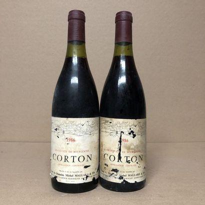 2 bouteilles CORTON 1986 (niveaux : 1 à 2cm...
