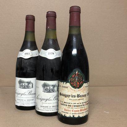 3 bouteilles : 1 SAVIGNY LES BEAUNE 1979...