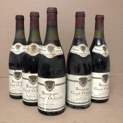 5 bouteilles BOURGOGNE 1982