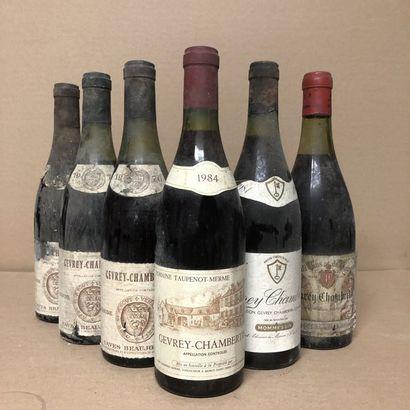 6 bouteilles : 3 GEVREY-CHAMBERTIN Caves...