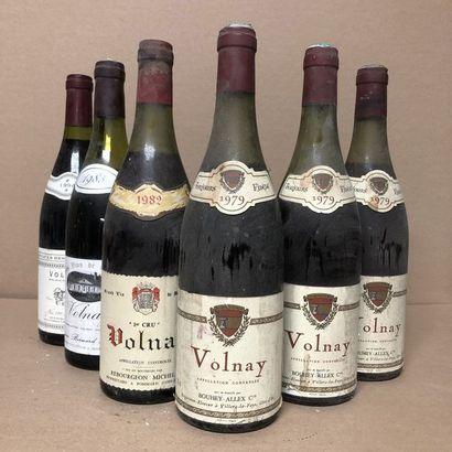 6 bouteilles : 3 VOLNAY 1979 Bouhey allex,...