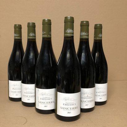 6 bouteilles SANCERRE 2017 (étiquettes fanées,...