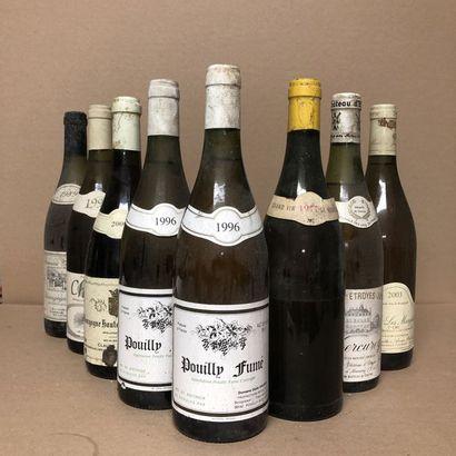 8 bouteilles : 1 BOURGOGNE ALIGOTE 1989 Domaine...