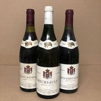 3 bouteilles : 1 SAINT-ROMAIN 1988 Caves...