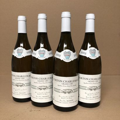 4 bouteilles CORTON-CHARLEMAGNE 2003 Grand...