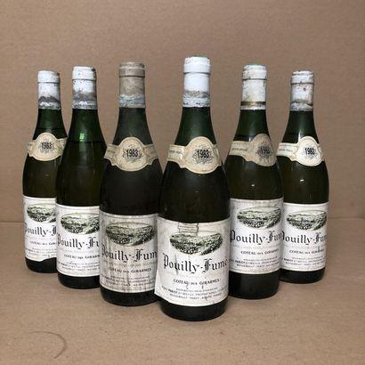 6 bouteilles POUILLY FUME 1983 Réserve (niveaux...