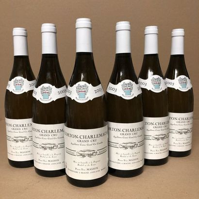 6 bouteilles CORTON-CHARLEMAGNE 2003 Grand...