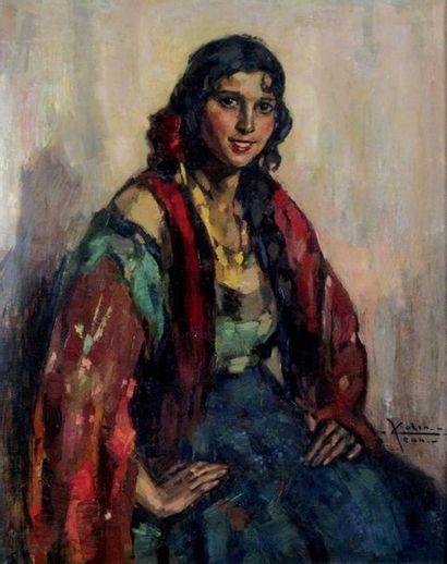 JEAN COLIN 1881-1961. La gitane. Huile sur...