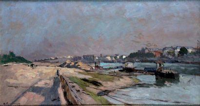 ALBERT LEBOURG 1849-1928. Paris bords de...