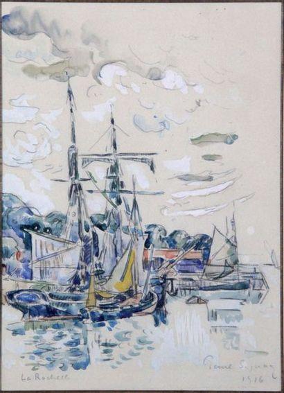 PAUL SIGNAC 1863-1935. La Rochelle 1916....