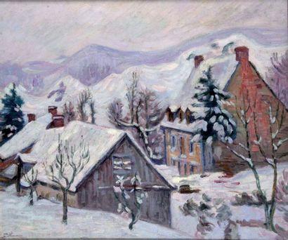 ARMAND GUILLAUMIN 1841-1927. Village de Saint...