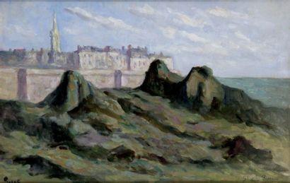 MAXIMILIEN LUCE 1858-1941. Vue de Saint Malo....
