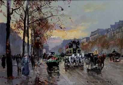 EDOUARD CORTES 1882-1969. Avenue des Champs-Elysées...