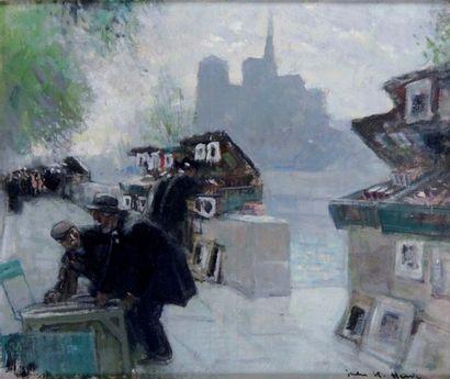 JULES RENE HERVE 1887-1981. Paris, la Seine...