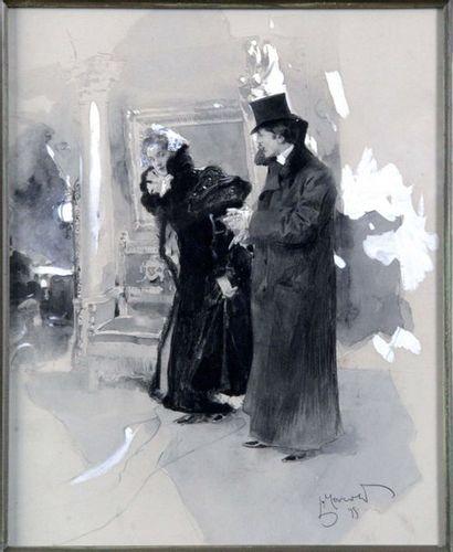 Ludwig MAROLD 1865-1989. Couple s'appretant...