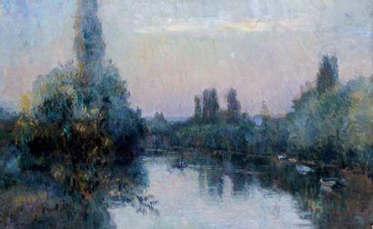 ALBERT LEBOURG 1849-1928. Barques sur la...