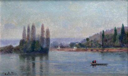 JOSEPH DELATTRE 1858-1912. Promenade en barque...