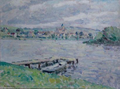 ABEL LAUVRAY 1870-1950. Bord de riviere....