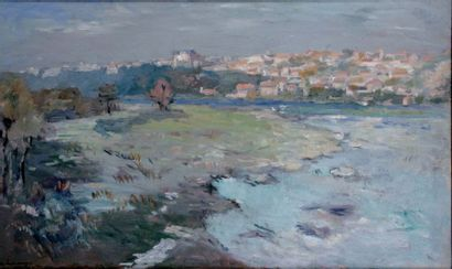 ALBERT LEBOURG 1849-1928. Les bords de l'Allier...