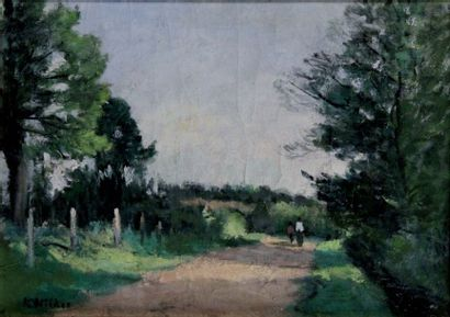 ANDRE WILDER 1871-1965. Promeneurs sur le...