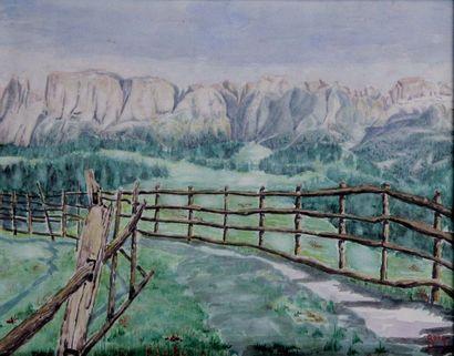CARL OSCAR BORG 1875-1945. Paysage américain....