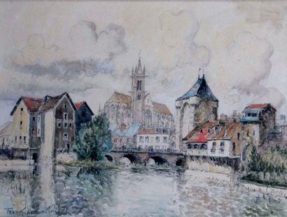 FRANK-WILL 1900-195. Vue de Morêt-sur-Loing....