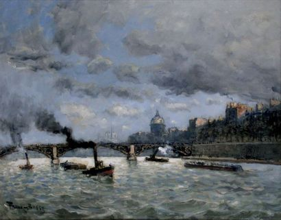 FRANK BOGGS 1855-1926. Paris, la Seine, Notre-Dame...