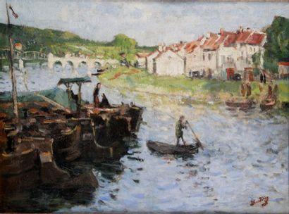 PIERRE EUGENE MONTEZIN. 1874-1946. Ponton...