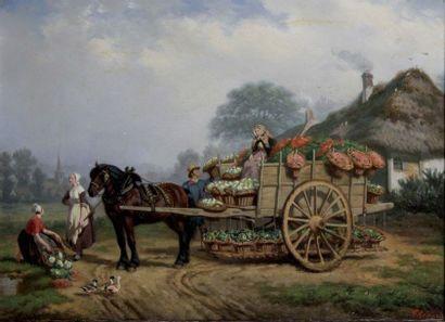 FERDINAND THENARD 1823-1899. La marchande...