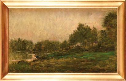 Charles DAUBIGNY (1817-1878) Bord de rivière...