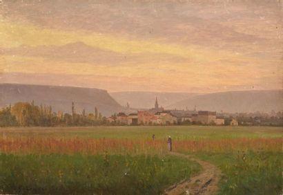 Prosper GALERNE (1836-1922) St Romains, Cote...