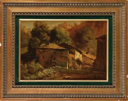 Jean Victor BERTIN (1767-1842) La Ferme Huile...