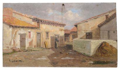 Prosper GALERNE (1836-1922) Basse-Cour Malesherbes...