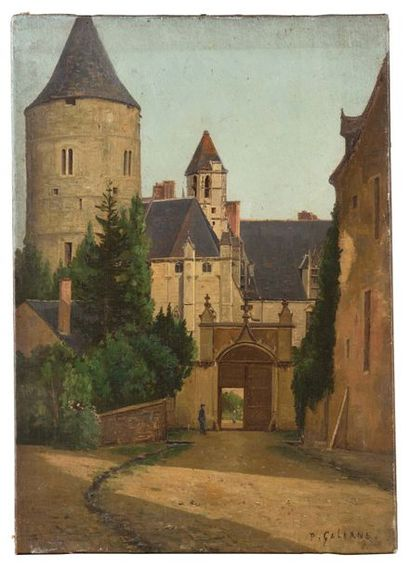 Prosper GALERNE (1836-1922) Château de Chateaudun,...