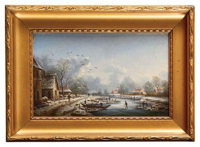 Albert LENOIR (1801-1891) Scène animée sous...