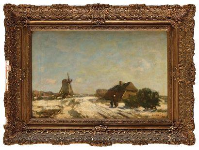 Arnold Henrik KONING (1860-1943) Moulin sous...