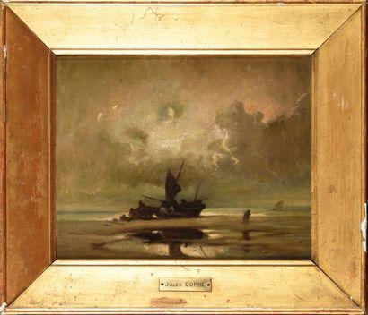 Jules DUPRE (1811-1889) Barques de pêche...