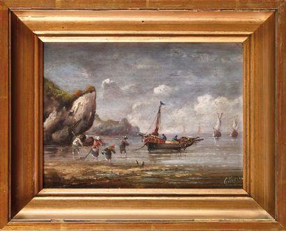 Pierre Julien GILBERT (1783-1860) Pêcheurs...